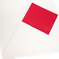 RED School Sports Day Flags and team event flags in RED (Pack of 10)